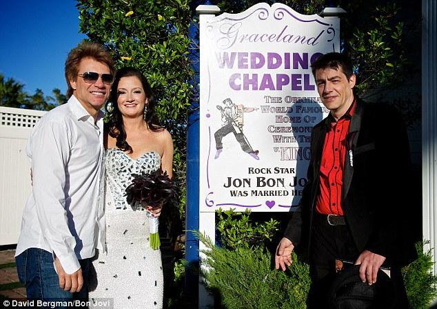 Jon Bon Jovi Walks Fan Down The Aisle In Las Vegas Wedding