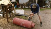 BBC DIY programme shows renovator cutting gas canister for