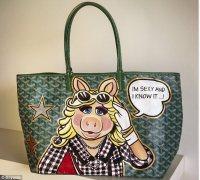 Boyarde: The artist who uses designer handbags like Goyard ...