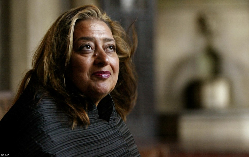 Award winner: Dame Zaha Hadid has won global critical acclaim for several of her stunning designs including the Roca London Gallery and the Evelyn Grace Academy in London