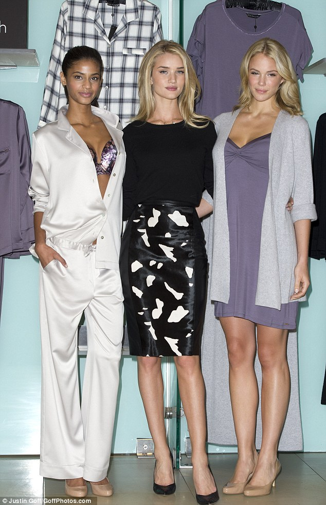 Showcase: Rosie was joined by models donning her designs today. The range includes stylish nightwear and comfy cashmere