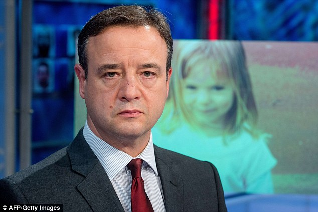 Dutch appeal: Chief Inspector Andy Redwood calls on Dutch viewers to report themselves if they were in the area at the time of the girl's disappearance in 2007, during a broadcast of Opsporing Verzocht on Dutch television