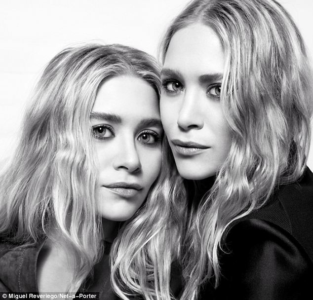The blondes are seen modelling pieces from their label, The Row, in the shoot by Miguel Reveriego