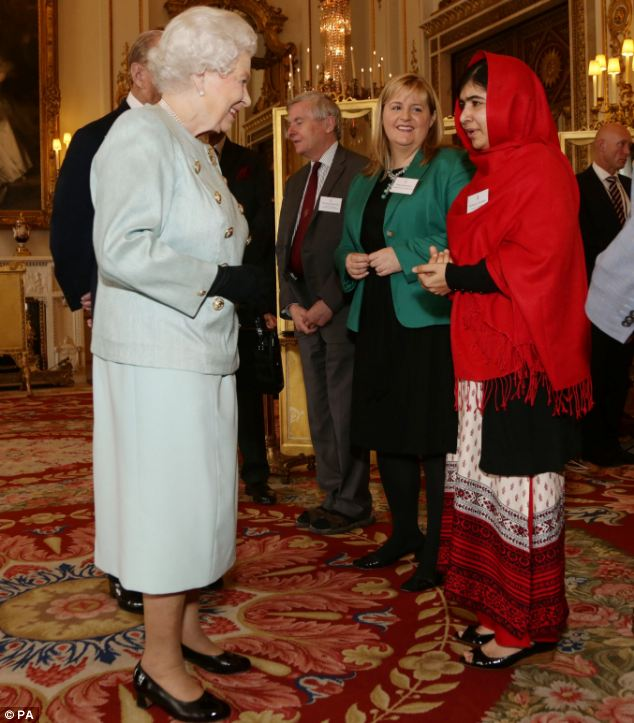 Conversation: Malala said she particularly enjoyed reminiscing about her home district with the Queen