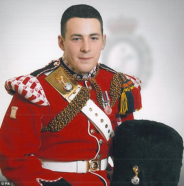 HERO SOLDIER DRUMMER LEE RIGBY MURDERED BY UAF SUPPORTING ISLAMISTS IN WOOLWICH. Threats: Horner told a photographer he could end up like murdered soldier Lee Rigby, pictured