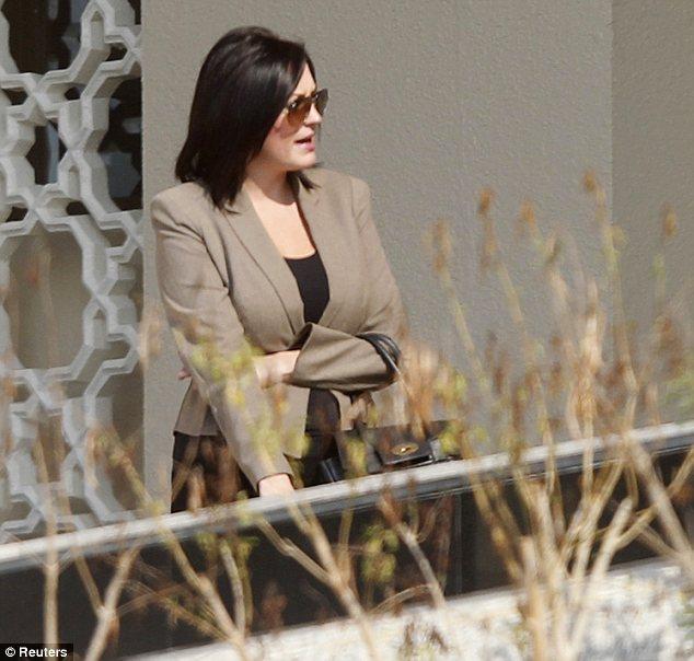Rebecca Blake outside the Dubai Court