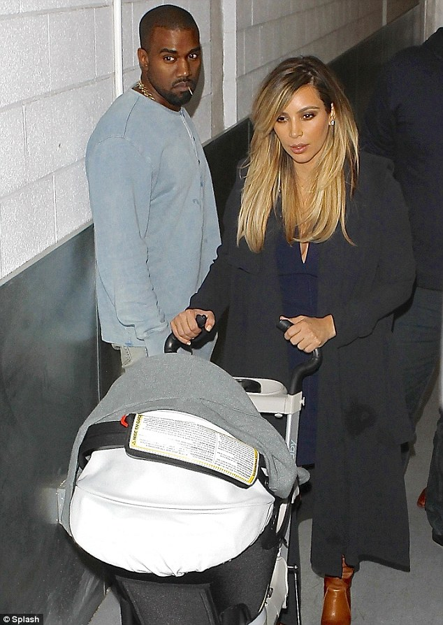 Family unit: Kim and Kanye are now three with baby Nori, who was born on June 15