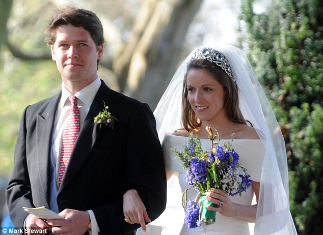 Emilia Jardine-Paterson, pictured on her wedding day with husband David, has known William and Kate for years