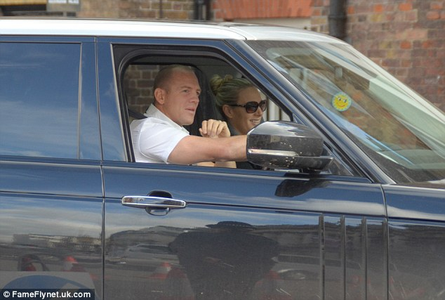 Prince George's godmother Zara Tindall arrived at St James's Palace this afternoon driven by husband, Mike