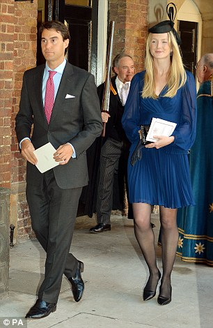 William van Cutsem with wife Rosie leaving the Chapel Royal in St James's Palace