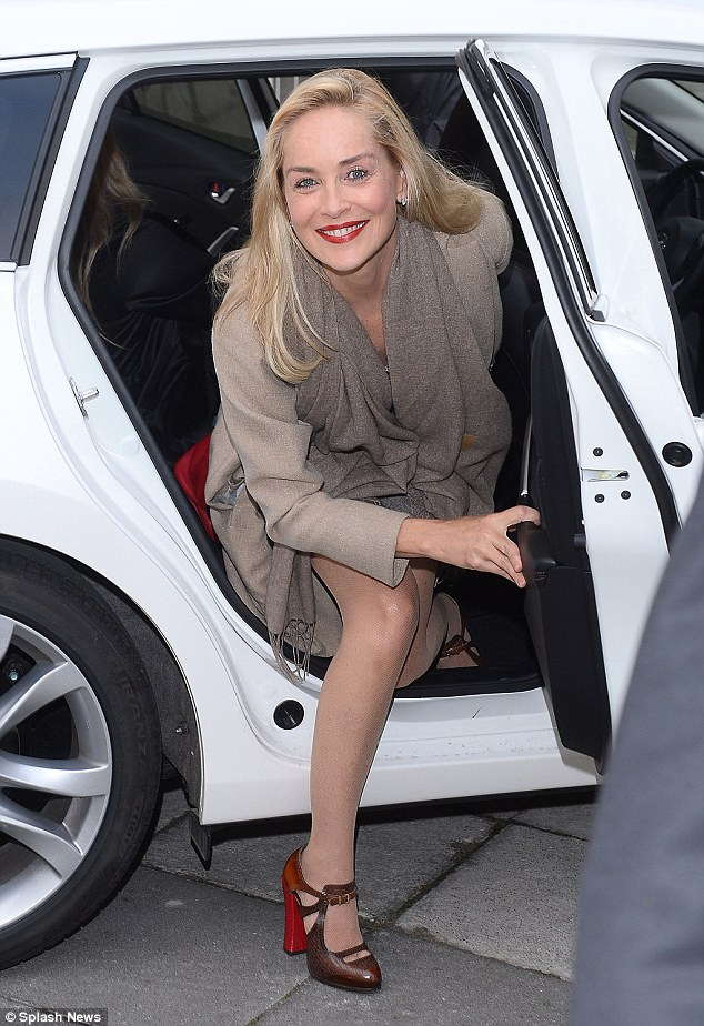 Sharon Stone Shows Off Her Incredible Figure In A Slinky