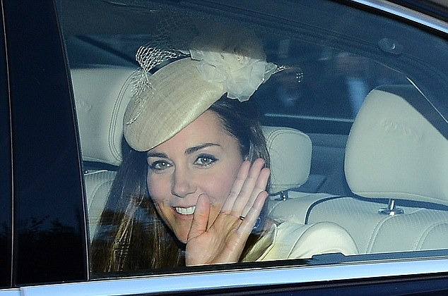 Stylish: Kate wore a hat by Jane Taylor, a milliner she has used on many occasions before