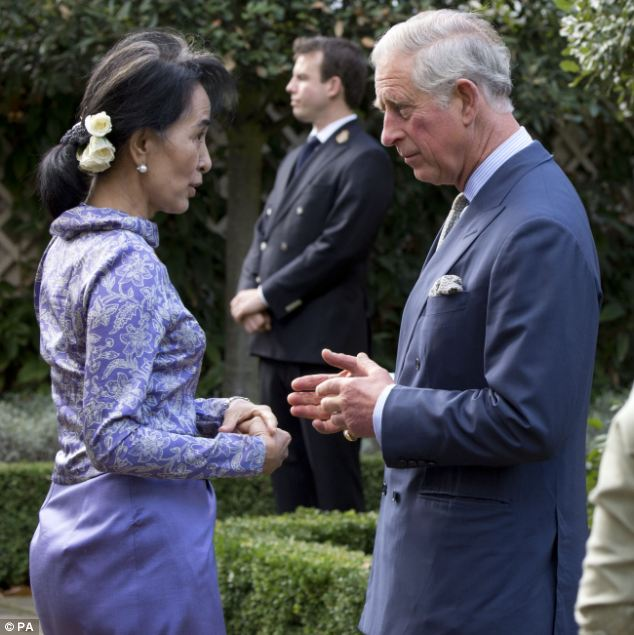 Prince Charles knew Suu Kyi's late husband Michael Aris and is now a patron of a trust set up in his memory