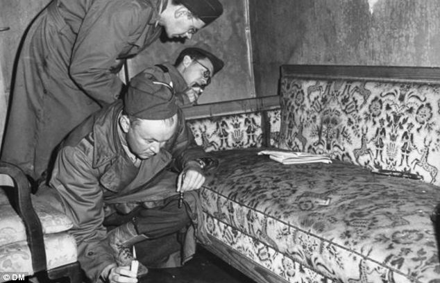 Today, the vast majority accept that Hitler shot himself in the bunker (pictured) in Berlin on April 30, 1945