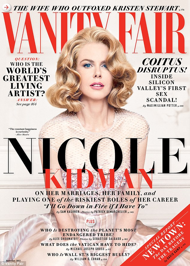 NIcole Kidman beat out Gwnyeth Paltrow for the coveted Vanity Fair cover, and they've also shelved their little expose on the actress