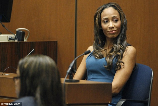 Taking the stand: Nicole was a prosecution witness during Murray's trial