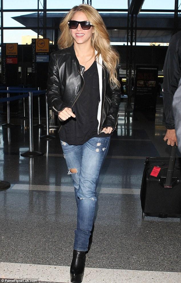 Shakira Wears Her Favourite Combination Of Denim And