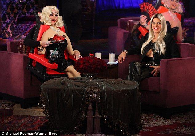 swivel chair feet for 2 month old ellen degeneres dresses as breast-baring nicki minaj halloween   daily mail online