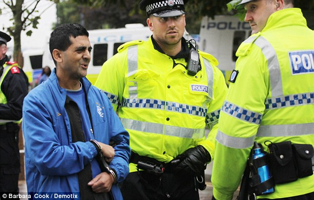 Abdul Rafiq was arrested by police at the demonstration in Bradford on October 12 after becoming involved in an argument with Asian men