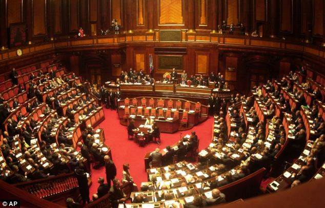 Senate: Italian Senate (pictured here) is investigating the link after millions of tonnes of waste was dumped in caves, farmland, quarries and lakes