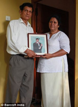 The parents of Thavisha Peiris are 'devastated' at the loss of their son