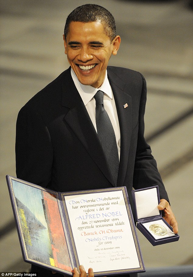 President Obama, who won the Nobel Peace Prize in 2009, had ordered an estimated 325 drone strikes against suspected terrorists and insurgents