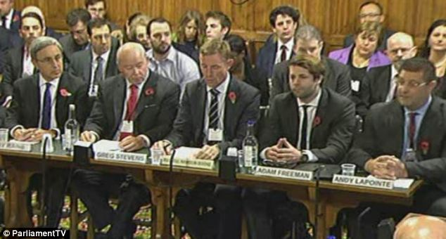 Grilling: Payday lenders including Wonga, Mr Lender and QuickQuid were called to give evidence by the Business, Innovation and Skills committee