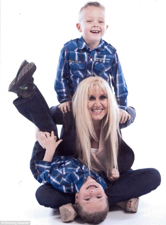 Lianne Gosling (pictured with her twin sons, Sam and Ryan) died of skin cancer at the age of 33, less than a year after finding a suspicious mole on her face