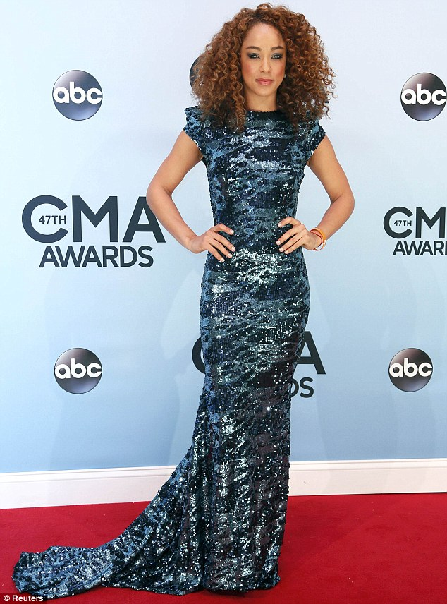 Sparkle: Nashville actress Chaley Rose wore a full-length shimmering gown that helped her stand out