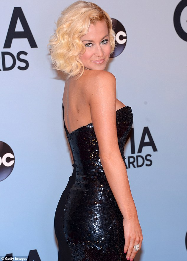 The Woman She Is: Country Kellie Pickler wowed in her black-sequined dress and 50s style hairdo