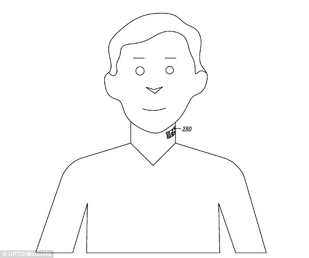 Motorola wants to patent a NECK TATTOO that doubles up as