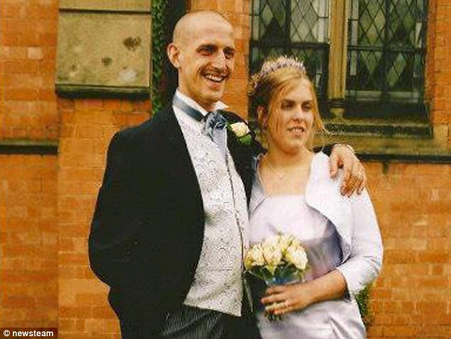 Guilty: Alan Evans left, murdered his wife, Louise, left, by throwing her down the stairs after a row