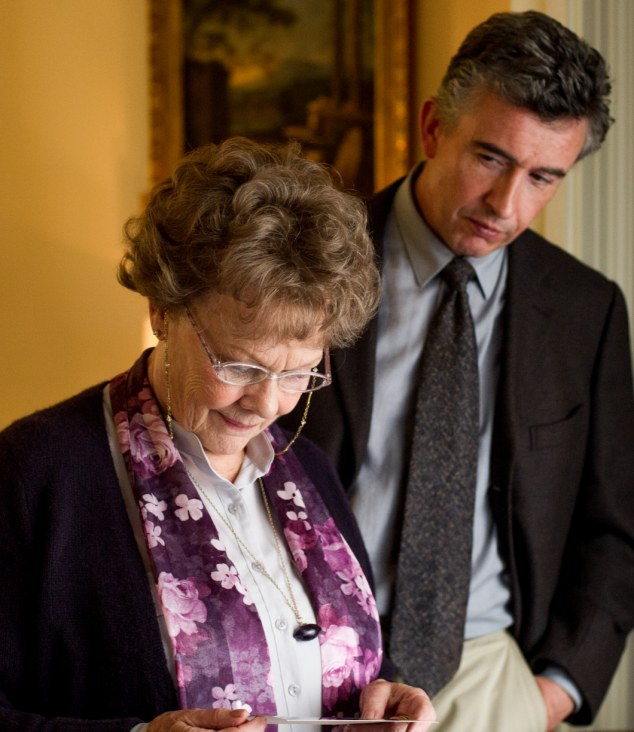 On the silver screen: Judi Dench plays Philomena Lee and Steve Coogan takes on the role as journalist Martin Sixsmith in Philomena