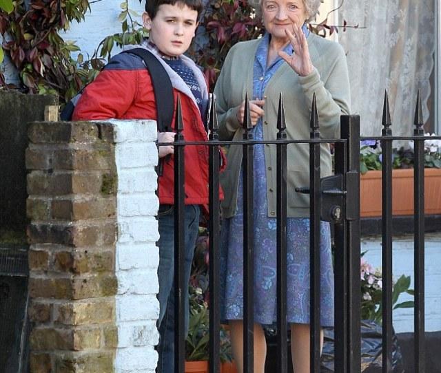 Brap Brap Gangsta Granny Herself Waves To The Cameras In Between Filming In East London