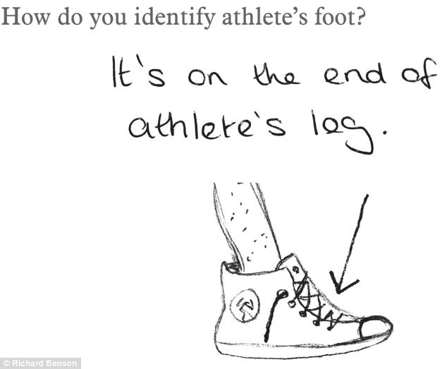 Q: How do you identify athlete's foot? A: It's on the end
