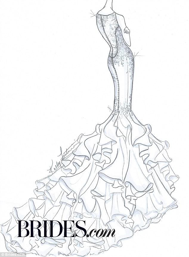 Kim Kardashian's wedding gown imagined by bridal designers