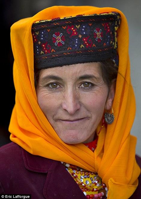 Tajik Uighur woman in traditional clothes