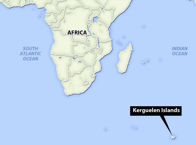 Resultado de imagen de kerguelen islands map