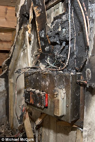 Four homes set ablaze and hundreds left without