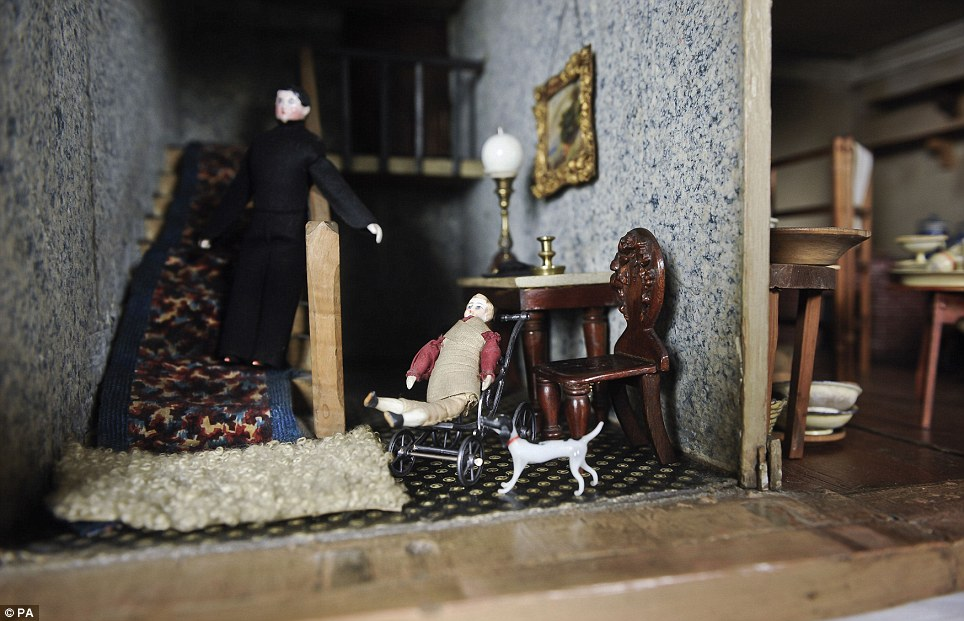 The house and its furnishings, which are all to scale, has been played with by children for the past 100 years