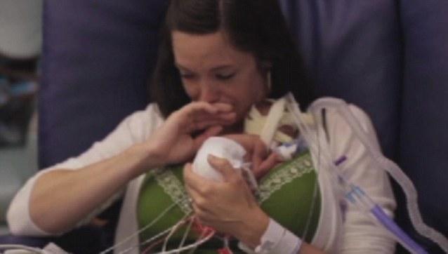 Father Benjamin Scots video of premature baby Ward Miles