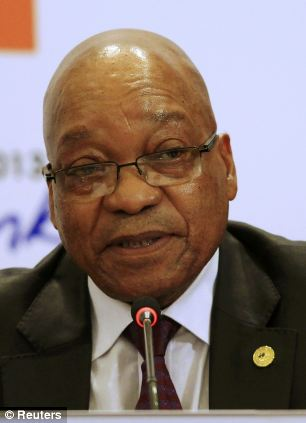 Gain: South African President Jacob Zuma -people might be using taxpayer's money for private gain