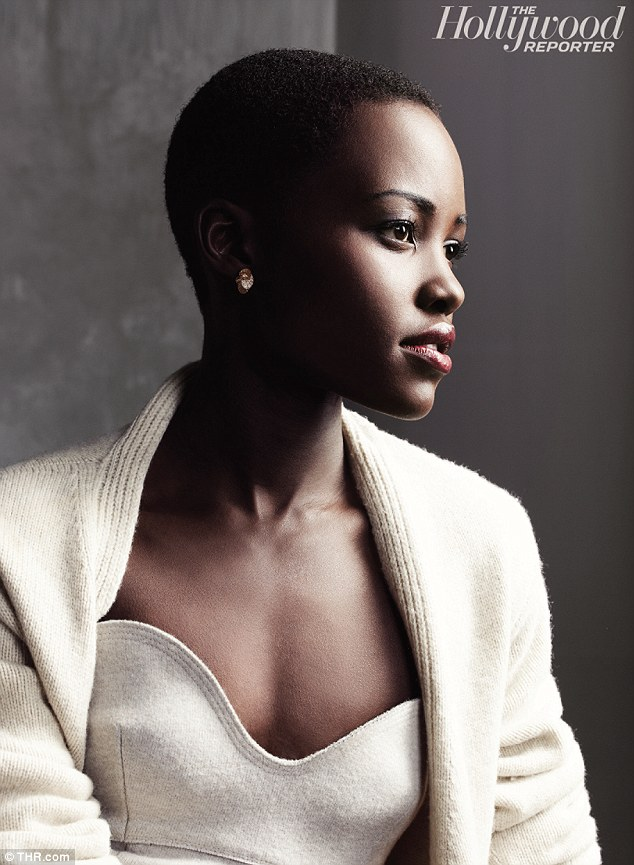 The newcomer: Lupita relayed her first job in the movie business was as a production assistant on The Constant Gardener with Ralph Fiennes and Rachel Weisz
