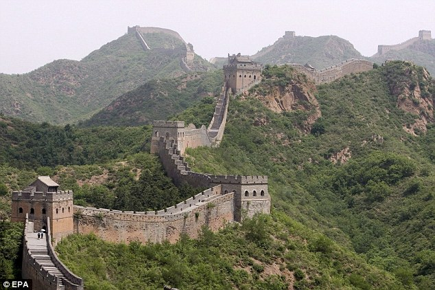 Wonder of the world: The Great Wall of China is in danger of being destroyed by farming activity
