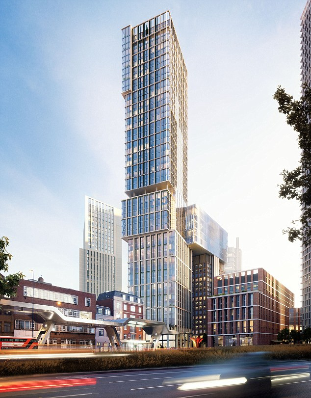 The next, the New Bondway Tower, was unveiled at a public exhibition in Vauxhall at the weekend by joint developers McLaren Property and Citygrove