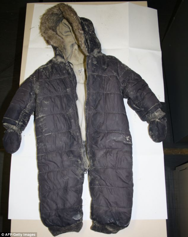 Tragic: The French Police Judiciaire has released images of Adelaide's onesie that she was found in