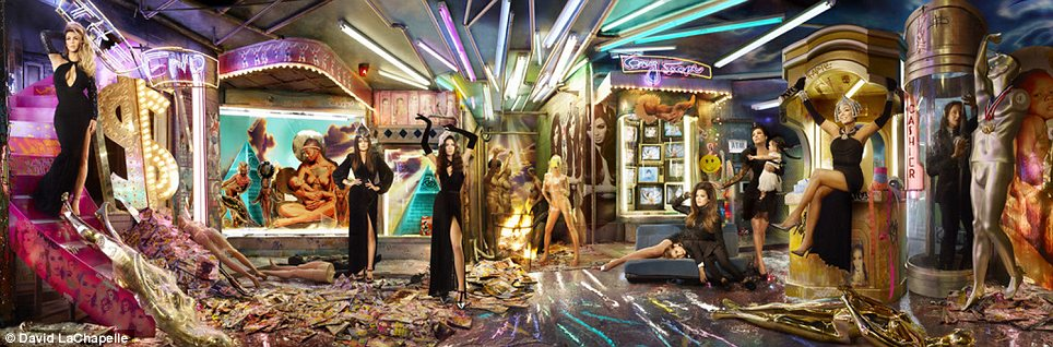 Their most elaborate one yet: The Kardashians have released their annual family Christmas card, which was shot by David LaChapelle for 2013