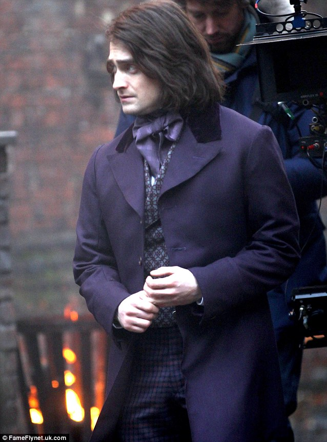 Daniel Radcliffe On Set As Igor In New Frankenstein Movie