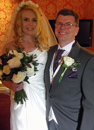 Wedding: Mrs Ayling's ex-husband Rob Ayling with his new wife Kristian