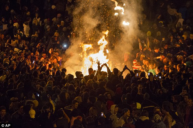 Michigan State University Students Riot After Big Ten